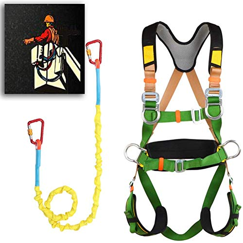 Safety Harness, Full Body Fall Protection Safety 5 Point Adjustment...