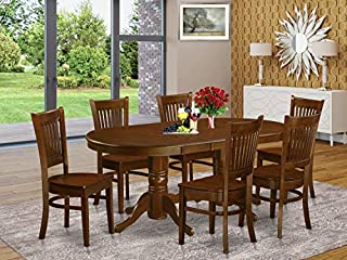 7 Pc Dining room set Table with Leaf and 6 Kitchen Dining Chairs (B00TV4GENS)   Amazon price tracker / tracking, Amazon price history charts, Amazon price watches, Amazon price drop alerts