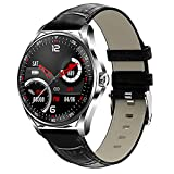 QFSLR Smart Watch, Fitness Tracker with Bluetooth Call Heart Rate Monitor Blood Pressure Spo2 Female Health Tracking IP67 Waterproof Smartwatch Men Women Android iOS,Black p