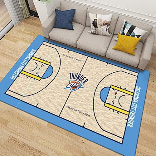 Oklahoma-Team-Teppich-Schlafzimmer, Wohnzimmer, Studienraum-Teppich-einfach zu reinigen, Nicht verblassende weiche Matte 60 * 90cm