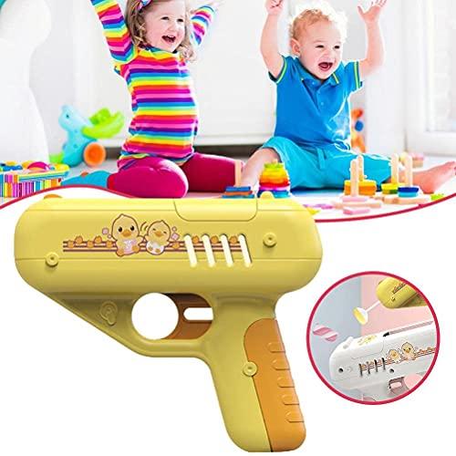 BST-MAI Lollipop Launcher Candy Toy Toy - Juguete de almacenamiento para piruleta, juguete de almacenamiento de caramelo, regalo creativo sorpresa con música, para niños y niñas niños (rosa)