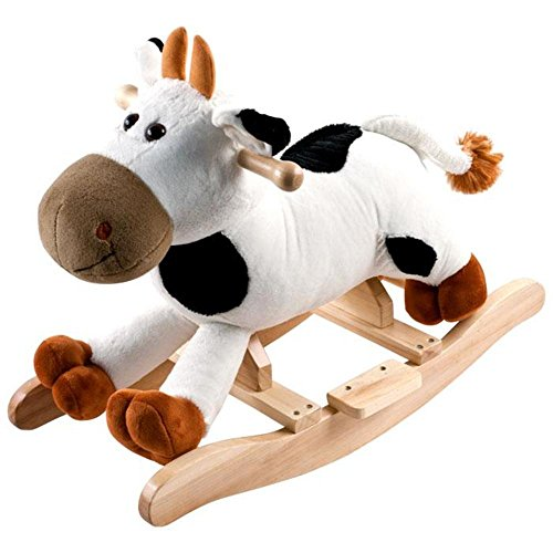 Great Deal! Trademark Games Happy Trails Plush Rocking Animal - Connie Cow with Sounds
