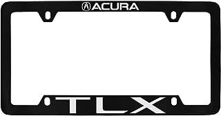 Acura TLX Wordmark Black Coated zinc Metal License Plate Frame Holder 4 Hole