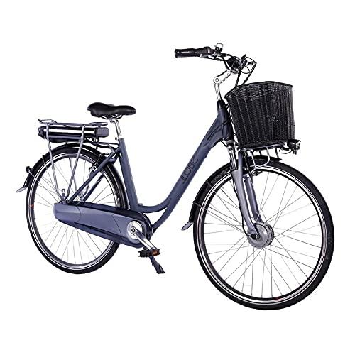 LLOBE City E-Bike Black Motion 2.0, 28 Zoll, Akku 36V / 13.2Ah, 250 Watt Motor