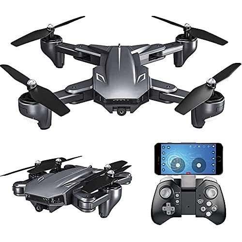 J-Clock Drone con videocamera HD 1080P, Drone Trasmissione in Tempo Reale WiFi FPV, quadricottero Pieghevole RC per Bambini, Adulti e Principianti