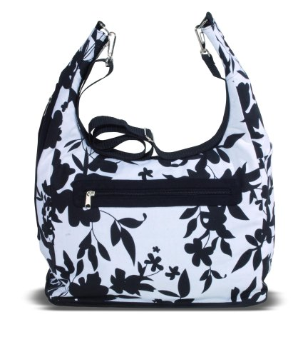 Kaiser 6572125 - Wickeltasche Elly, Design: black/white flowers