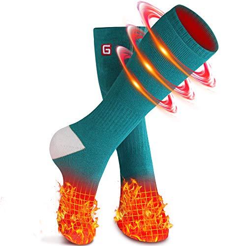 Beheizte Socken Elektrische Socken für Männer Frauen Wiederaufladbare Batterien Socken für chronisch kalte Füße, Fußwärmer Warme Socken Ideal zum Wandern Camping Angeln Socken
