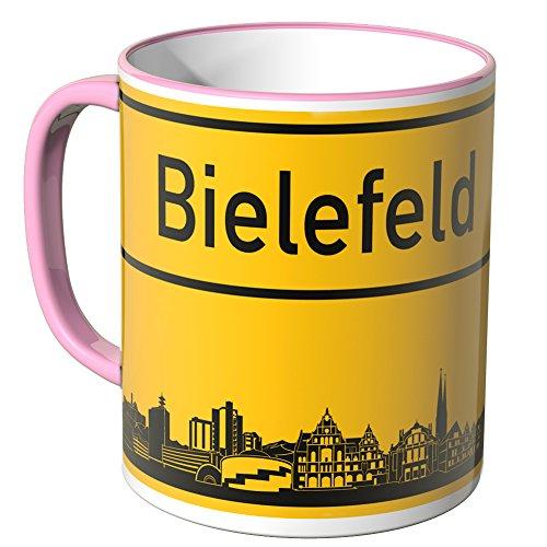Wandkings® Tasse, Skyline Bielefeld - ROSA
