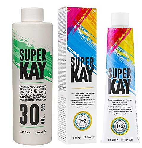 Super Kay Coloration permanente 7.3 Blond doré 180 ml + 30 Vol.9% Dev
