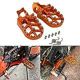 Pedales de reposapiés para motocicleta Aluminio para 85 125 150 250 300 350 450 500 SX XC-W SX-F XC-F EXC-F SX-F FACTORY EDTION XC-F TC FC FE TE FS TX FX Naranja