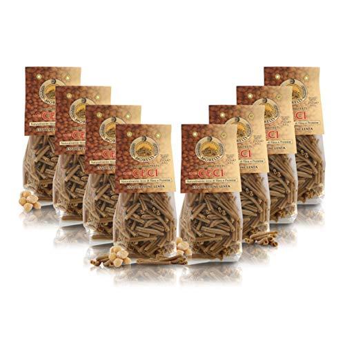 Antico Pastificio Morelli 1860 Srl Strozzapreti of Chickpeas, Legumes 100%, 8 Packs of 250 Grams