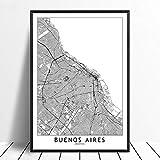 Leinwanddruck,Buenos Aires Schwarz Weiß Benutzerdefinierte