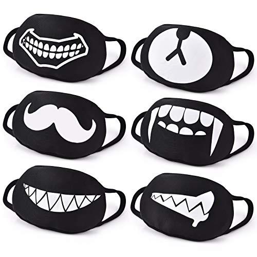 Black and white smile masks