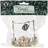 Touch of Nature 1-Piece Miniature Garden Fire Pit and Cooking Pot with LED Lighted, 3.25