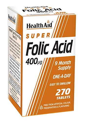 HealthAid Folic Acid 400g - 270 Tablets