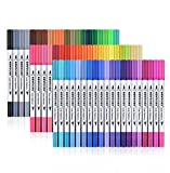 Newdoer Colors Dual Brush Pen Art Markers, include 2mm brush tip and 0.4mm...