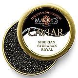 Marky's Siberian Sturgeon Royal Caviar – 1 oz Premium Sturgeon Malossol Black Roe – GUARANTEED OVERNIGHT