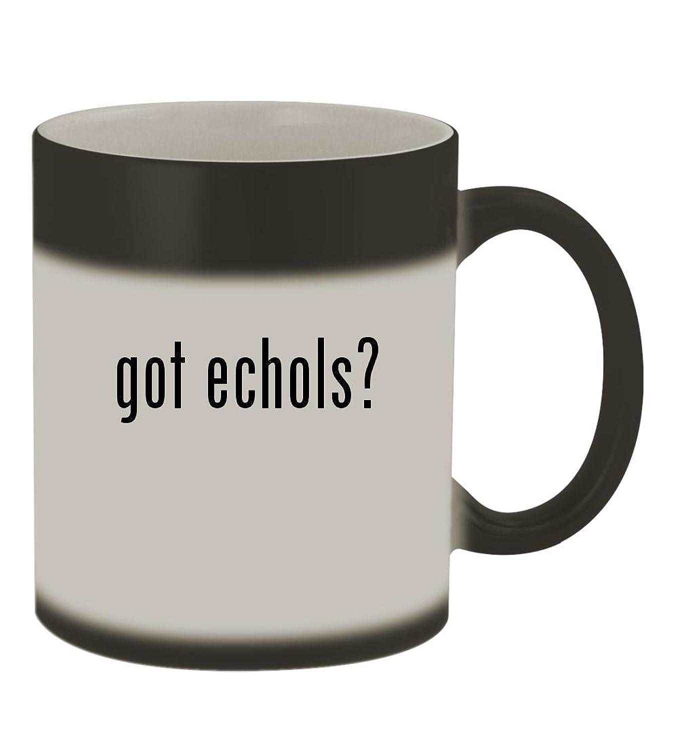 got echols? - 11oz Color Changing Sturdy Ceramic Coffee Cup Mug, Matte Black