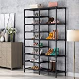 Tribesigns Shoe Rack, 9 Tiers Shoe Tower Shoe Shelf Stackable, Space Saving Shoe Storage Cabinet, Holds 28 Pairs (Black)