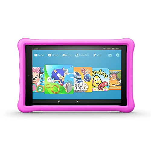 "Amazon Fire for Kids Kid-Proof Case for Fire HD 10 (10"" Tablet, 7th Generation - 2017 release), Pink"