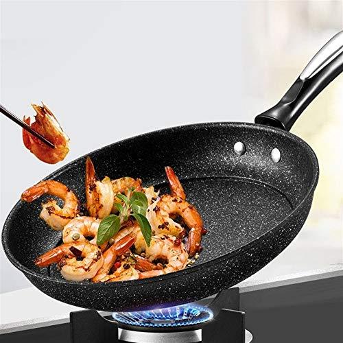 NO LOGO JNT- Pan antiadhésive Pas de fumée Poêle Petit Wok Cuisinière à Induction Universelle Cuisine Pot antiadhésif Pan Cuisine Casseroles Pots Pans (Couleur : 22cm)