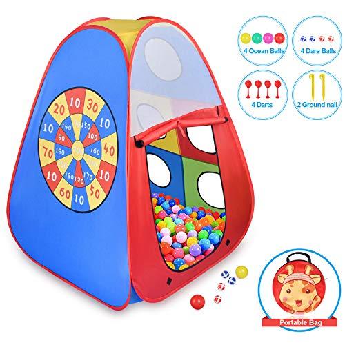 STLOVe Tenda Bambini,Tenda Gioco e Play Tent Tube Tenda(Senza Palla),Tende Giocattolo Tenda per Neonati Pieghevole Portatile│Ideale per Viaggio in Spiaggia