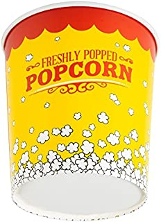 130 oz. Popcorn Bucket Cup, Yellow Red Retro Style (25 Buckets) by -  Carnival King