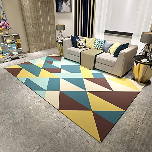 Alfombra de salón, sofá, mesa de centro, dormitorio, habitación, moderno y minimalista, terciopelo, rectangular, 160 × 230 cm