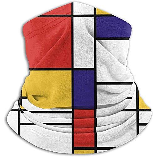 Rectángulos de colores Calentador de cuello Heat Sun-ProNeck Gaiter Tube Soft Half Mask Unisex Neck Gaiter Cover para esquí
