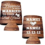"""VictoryStore Can and Beverage Coolers: """"Happiness is being Married To Your Best Friend"""" Wedding Can Coolers (25)"""