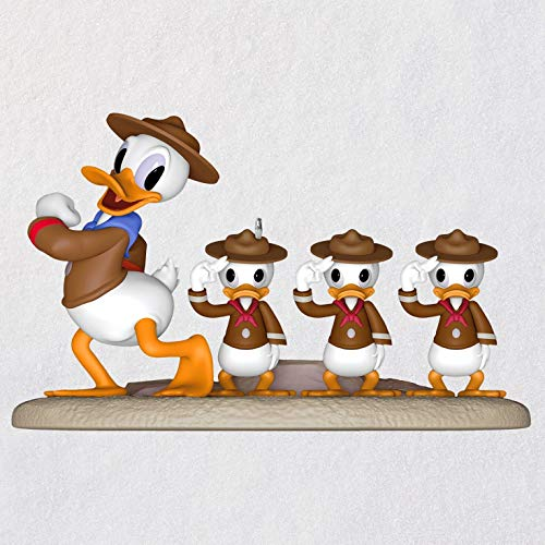 Hallmark Keepsake Christmas Ornament 2019 Year Dated Disney, Good Scouts Donald Duck