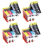 20x Compatible XL Cartouches d'encre avec PUCE & contrî´le du niveau, pour Canon CLI-8 PGI-5, directement applicable - Canon...