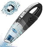 Uniky Aspiradora de Mano [Reducción de Ruido 120W] Aspiradora portátil sin Cable Potente Recargable Carga rápida USB 2500MAH Aspiradoras en Seco y Húmedo Accesorio Completo para Oficina Hogar y Coche