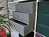 möbelando Faltbox Aufbewahrungsbox Spielzeugbox Regalbox Box Staubox Officebox One II (Anthrazit)