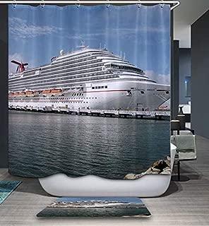 GoJeek Big Carnival Cruise Ship Shower Curtain Bath Bathroom Decor