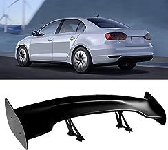 Qiilu Car Wing Spoiler, Universal GT 57 Inch Rear Wing Spoiler, Spoiler Kit Adjustable Angel for Most Cars