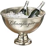 Decorazione, arredamento, soprammobile - portaghiaccio, porta champagne, secchiello, vasca - colore: metallizzato - materiale: alluminio - ca Ø 47 H 34 cm