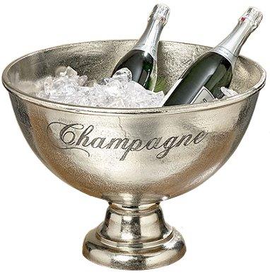 Unbekannt Decorazione, Arredamento, soprammobile - portaghiaccio, Porta Champagne, Secchiello, Vasca - Colore: Metallizzato - Materiale: Alluminio - ca Ø 47 H 34 cm