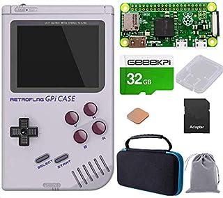 GeeekPi Retroflag GPi Case with Raspberry Pi Zero W & Raspberry Pi Heatsink & Black Carrying Bag & 32G SD Card for Raspber...