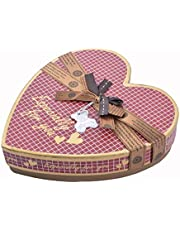 chocolate gift box heart shape medium size