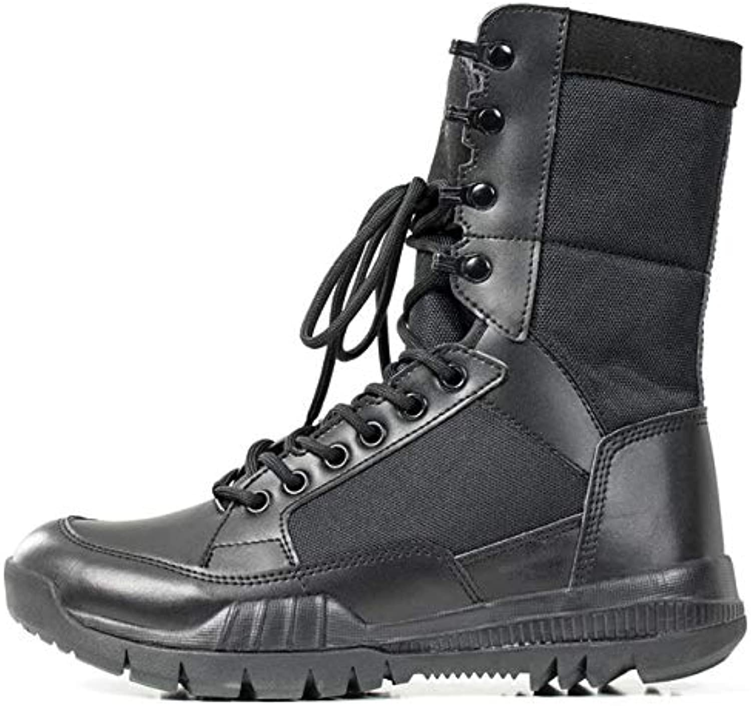 Men's Military Combat Boots Desert Hiking Boots Leather for Men Patrol Ankle Lace-Up shoes Vintage Casual Outdoor for Army Hiking Work