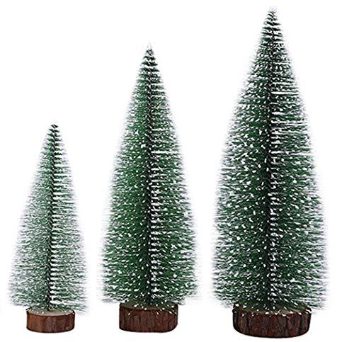 20cm de Noël//Hiver Lot de 3 Artificiel Givré Pine Cone Mini Arbre Picks