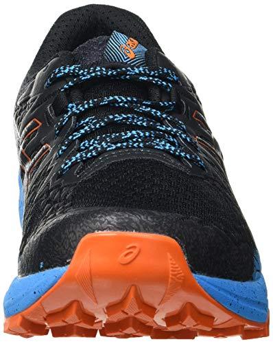 Asics Fujitrabuco Lyte, Trail Running Shoe Hombre, Black/Digital Aqua, 46 EU