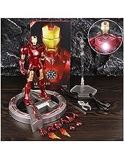 """YSYSPUJ Actiefiguren USB LED Base Display Stand Ondersteuning Iron Man MK3 MK4 MK5 MK6 7 """"Action Figure Mark 2 3 4 5 6 Legends Doll Pop Model (Kleur: LED MK3 en LED Base)"""