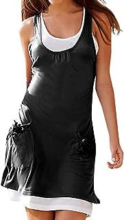 pitashe Womens Bodycon Dress Solid V Neck Short Sleeve Cross Front Irregular Pleated Dress Casual Summer Evening Party Dress Mini Dress