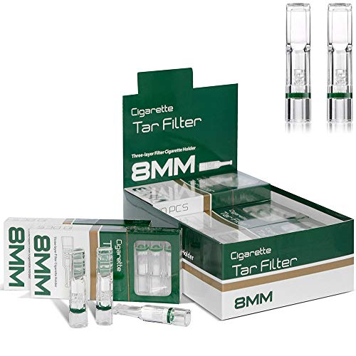Disposable Cigarette Filters Three-Layer Microporous Multi-Filtering to Reduce Tar and Smoke Stains (120 Per Pack)