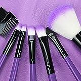BDFA - Juego de brochas de maquillaje, color morado
