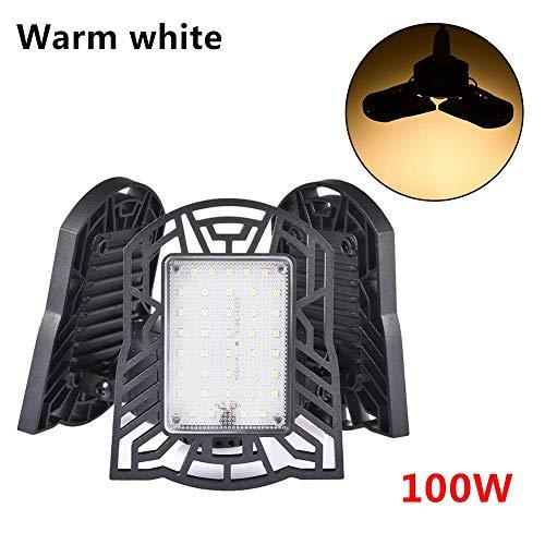 smilerr 100W verformbare LED-Industrielampe, 10000 Lumen IP65 wasserdichte industrielle Lager-Bergbaulampe, Garagen-Licht-Deckenleuchte, LED-Innenflutlicht chic