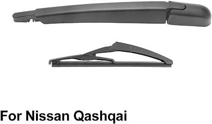 SLONGK Brazo del Limpiaparabrisas Trasero Y Escobilla del Limpiaparabrisas Trasero, para Nissan Qashqai 2006-