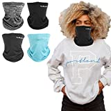 Tolaccea 4 Pack Neck Gaiter Multifunctional Bandana Breathable Face Scarf Reusable Washable Face Cover Windproof Dust Sun UV Protection Balaclava Snood for Men Women Outdoor Cycling Running Camping
